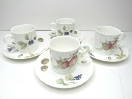 4 Mikasa Maxima BELLE TERRE CAJ05 Cup Saucer SETS Durable Dining Dishes ... - $33.53