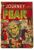 Journey Into Fear #8 1952-Superior-flaming torture-hanging-commies-terro... - $87.30