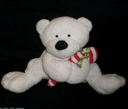 2005 Ty Pluffies Baby Candy Cane Teddy Bear Christmas Stuffed Animal Toy Plush - $10.40