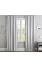 Pottery Barn kids blackout curtains - 2 Panels Gray And White Dot - $74.25