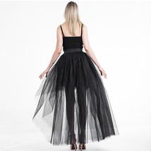 White Hilo Over-skirt / Wedding Bridal Wear Tulle Skirt / White Open Tulle Skirt image 6