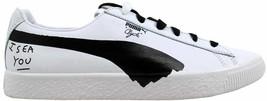 Puma Clyde Shantell Martin Puma White/Puma Black 365894 01 Men's Size 4 - $110.00