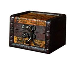 Creative And Traditional Yellow Wooden Jewelry Box Cosmetic Case