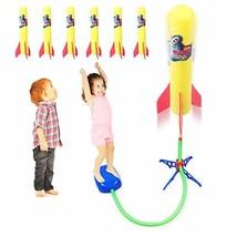 Duckura Jump Rocket Launchers for Kids, Outdoor Air Rocket Toys with Launcher an