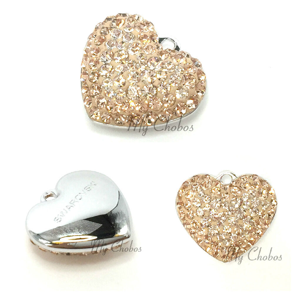 Primary image for Swarovski European Fit Bracelet Charm Stainless BeCharmed Pave Heart Pendant
