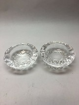 Pair Vintage Signed WATERFORD CRYSTAL COLLEEN PATTERN 3.5 Round Ashtray/... - $98.99