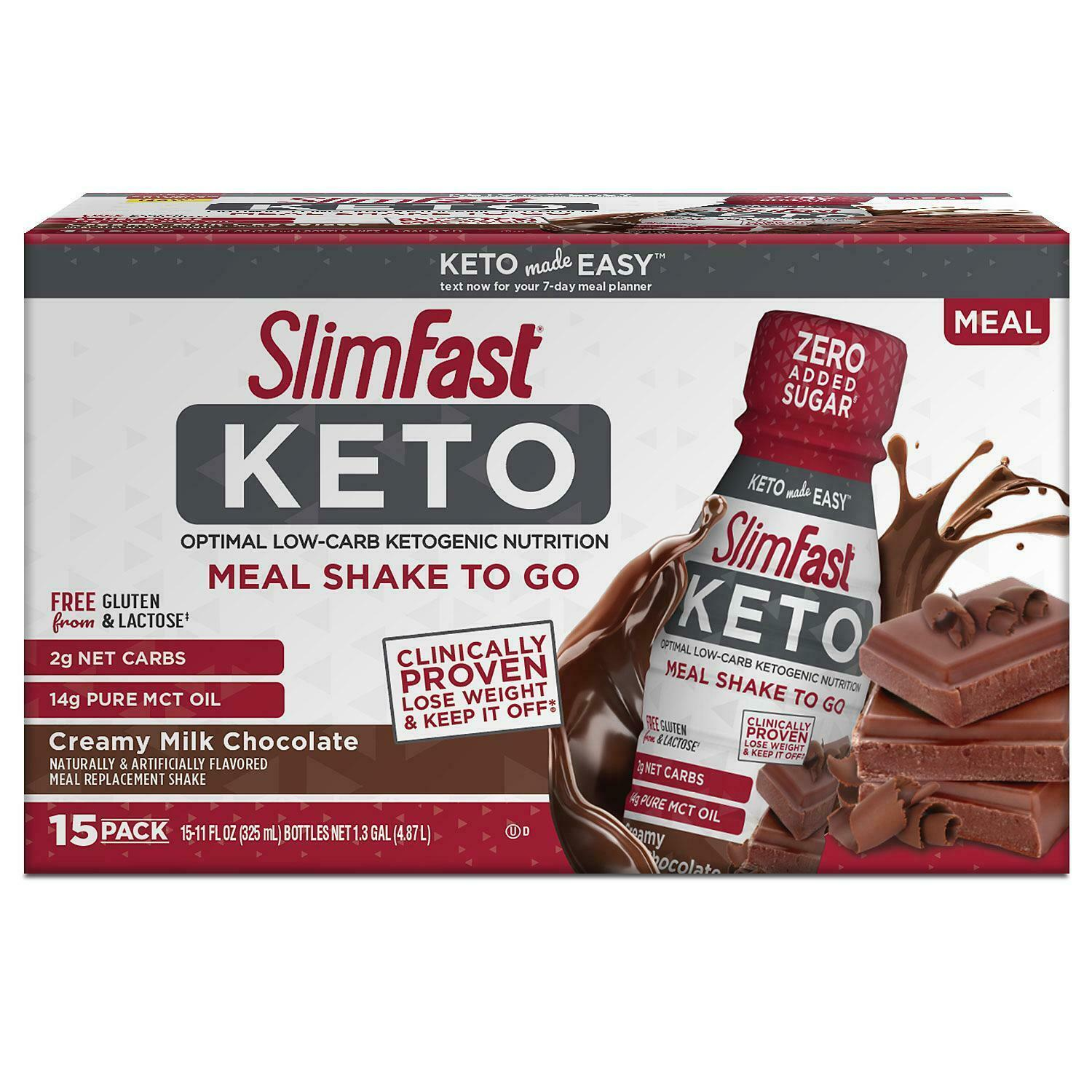 Primary image for SlimFast Keto Ready-To-Drink Chocolate (15 pk.)