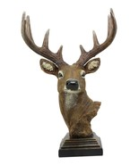 Large Rustic Forest Woodland 10 Point Stag Buck Deer Bust With Base Stat... - $60.99