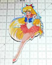 Sailor Moon jumbo prism sticker prismatic Sailor Venus decal jumping - $9.89