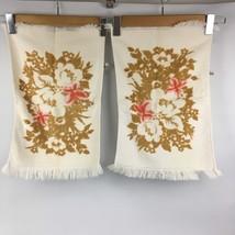"VTG Set 2 Hand Towels 18"" Fieldcrest Cotton Tea Mid Century Modern Retro... - $14.75"