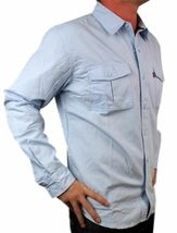 NEW LEVI'S MEN'S COTTON CLASSIC REGULAR FIT BUTTON UP SHIRT SKY BLUE-057CC XL image 4