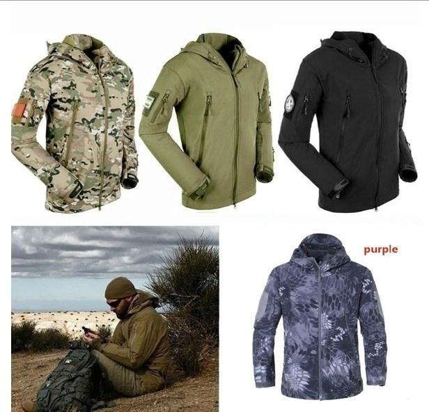 Stylish Men S Winter Outdoor Hunting Camping Waterproof Army Coat Hoodie Jacket