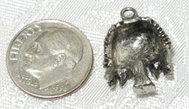 WEEPING WILLOW TREE FINE PEWTER PENDANT CHARM - 14x19x5mm image 3