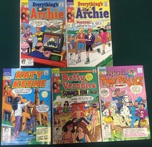 ARCHIE KATY KEENE etc lot of (5) issues as shown (1989-1991) Archie Comi... - $9.89