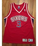 Authentic 1996-97 Philadelphia 76ers Sixers Allen Iverson Rookie Jersey ... - $599.99