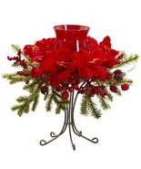 Amaryllis Candelabrum Christmas Decor Nearly Natural™#4927 - $88.85 CAD
