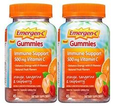 Emergen-c Gummies Immune Support 500 mg vitamin C, Orange Tangerine & Raspberry, - $45.02