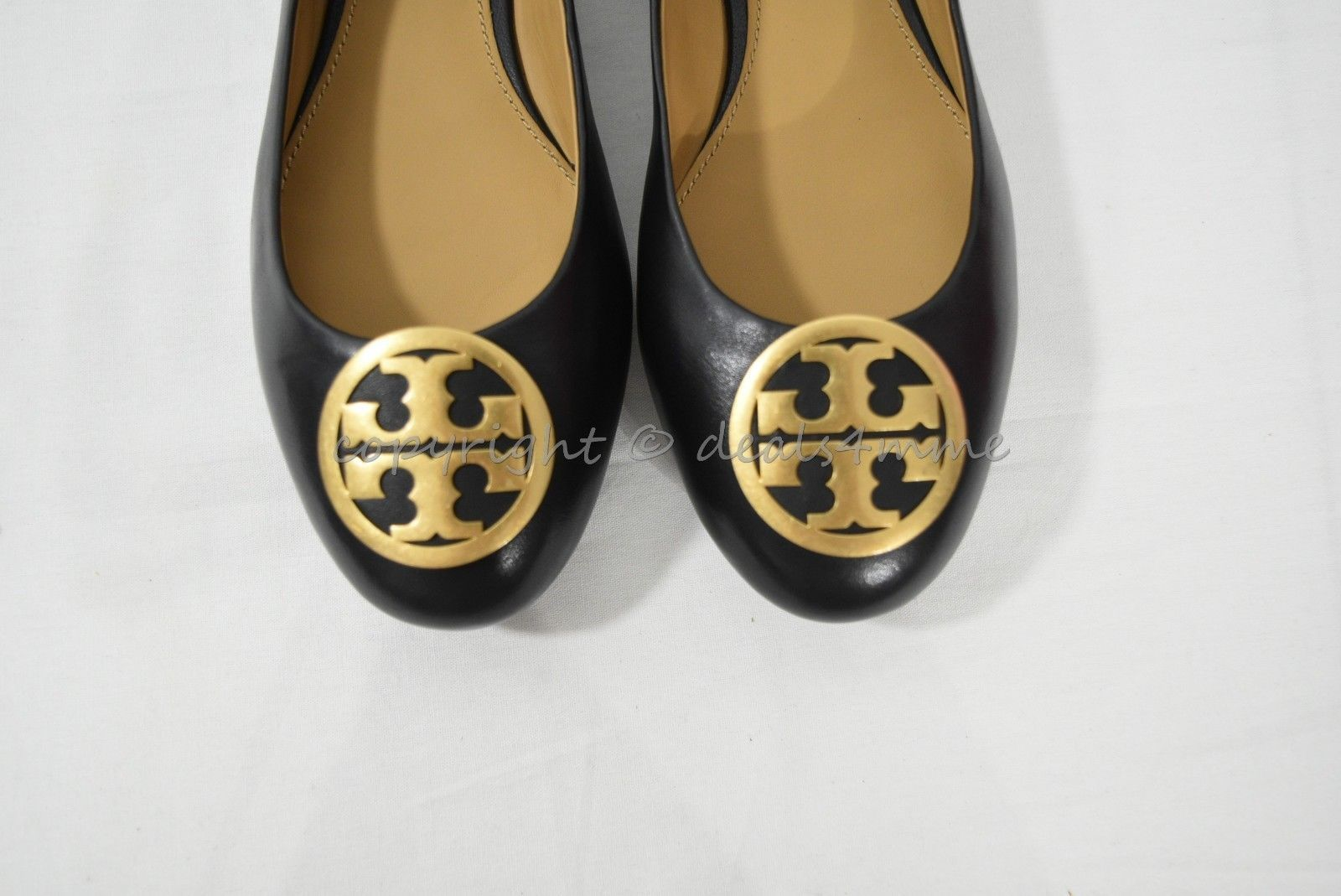NIB Tory Burch Style 52785 Benton Ballet Flat Shoes /Flats in Black Napa Leather