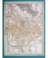 "1905 MAP Baedeker - AUSTRIA Graz City Town Plan 6 x 8"" (15 x 20 cm) - $6.71"