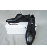 Gravati Shoes Lace Up Men's Black Leather Deerskin NIB 7 Wide $595  - $395.01
