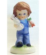 1978 Westwood Little Charmer Little Boy in Blue Bunny Rabbit & Carrots F... - $14.99