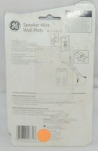 GE Speaker Wire Wall Plate Four Terminal Fits Standard Electrical Outlet image 2