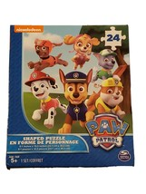 """Nickelodeon Paw Patrol 24 Piece Badge Shaped Puzzle 9.1"""" x 10.3"""" Ages 5+ - $5.34"""