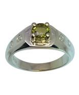 14k Green Tourmaline Men's Ring, FREE SIZING - $439.00