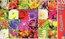 Summer Flowers Collage - Puzzlebug 650 Piece Jigsaw Puzzle - $7.13