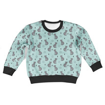 Leopard Cat Love Kids Sweatshirt - $42.99+