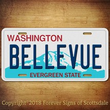Bellevue Washington City State College Aluminum Vanity License Plate Tag - $12.82