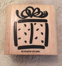Rubber Stamp By Stampin Up Present Gift 1995 Scrapbooking Crafts - $1.52