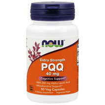 Now Foods PQQ 40mg with 200mg 50Caps Mitochondrial Extra Strength Alpha Lipoic - $23.21