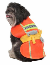Pet Construction Worker Pet Costume Halloween Sz XS, S New - $13.59