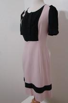 Diane von FURSTENBERG Pink Black Baby Doll Puff Sleeve Button Front Dress 10 - $152.99