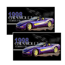 1998 Chevrolet Corvette Indy 500 Pace Car Decals Pack Of Two - $4.54