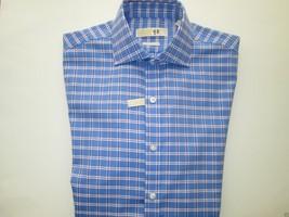 Michael Kors Spread French Herringbone Men Dress Shirt Blues 15 | 32-33 ... - €29,12 EUR