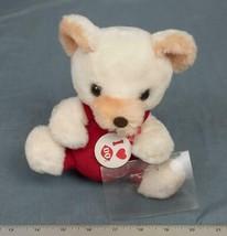 Vintage Valentine Gift Dairy Queen Plush Bear w/ Heart Pinback dq - $25.62