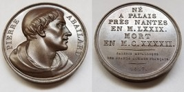 1817 French Philosopher Pierre Abailard (1079-1142) Bronze Medal by Gayrard - $124.99