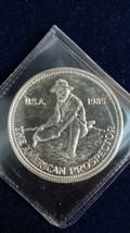 1985 1 os Silver Round - Engelhard - The American Prospector - $45.00