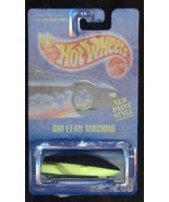 Hot Wheels 1991-268 Gm Lean Machine New Paint Style ALL Blue Card 1:64 S... - $14.69
