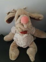 Vintage Wrinkles Dog Hand Puppet Ganz 1981 Blood Hound Plush Stuffed Animal - $26.68
