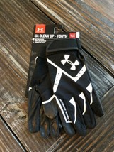 Under Armour Youth Large UA CleanUp HeatGear Batting Baseball Gloves 1267427-001 - $18.13