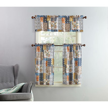 Mainstays Amelia Patchwork 3 Piece Kitchen Curtain Set - $18.80