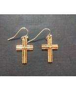 Copper Star Cross Charm Earrings - $5.00