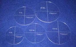 """5 Piece Circle Set  4"""",4,5"""", 5"""", 5.5"""", 6""""  1/8""""  Acrylic - Quilting Temp... - $26.99"""