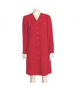1980s Vintage Jones New York Red Tent Style Dress NWT - $30.00