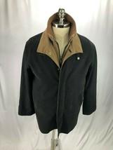 Giorgio Armani Men's Black Brown Jacket Coat w/ Removable Lining L - $250.00