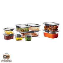 Food Storage Containers Durable Set 18 Piece Not Leak Clear Long Lasting... - $94.81