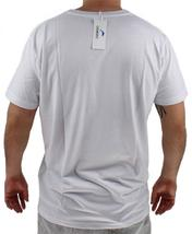NEW GIOBERTI MEN'S PREMIUM ATHLETIC CLASSIC V NECK T-SHIRT TEE WHITE VN-9503 image 3